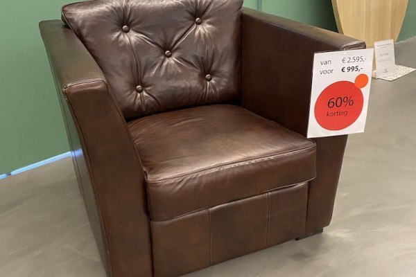 fauteuil color in luxe leder